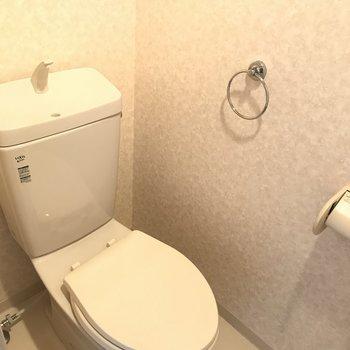トイレにタオル掛け付いてます◎