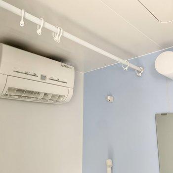 乾燥機があるのは嬉しいですね。※写真はクリーニング前のものです