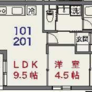 今回募集のお部屋はコチラ!使いやすそうな1LDKです
