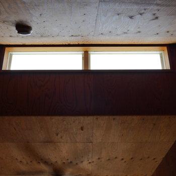 天井からも陽射し入るので、明るいロフトです。※写真は2階の同間取り別部屋のものです