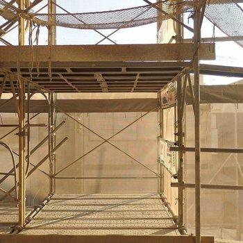 低層階なので、あまり眺望はよくないです。※写真は2階のモデルルーム。