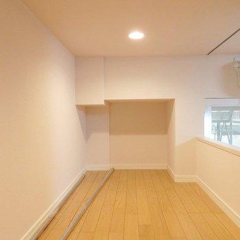 ここに布団を敷いて寝床に。※写真は2階のモデルルーム。