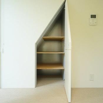 こちらの収納は可愛い形。※写真は1階の同間取り別部屋のものです。
