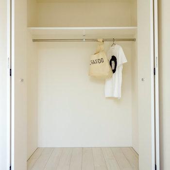 1人ならゆとりある収納。2人なら収納を追加したいなあ。※写真は2階の同間取り別部屋のものです。
