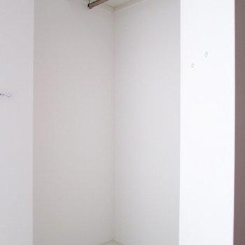 【下階】洋服もたくさんかけちゃおう。※写真は3階の同間取り別部屋のものです