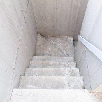 階段での移動になります。