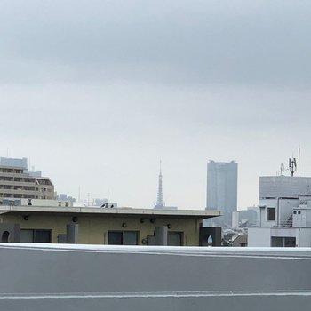なんと!遠くには東京タワーも見えちゃいます!