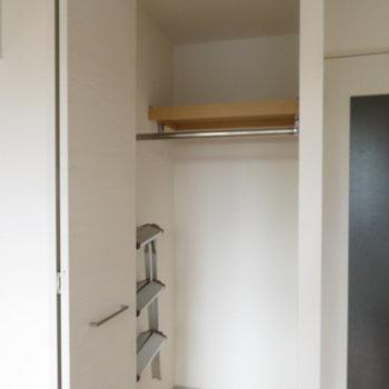 このクローゼットが(※写真は10階の同間取り別部屋のものです)