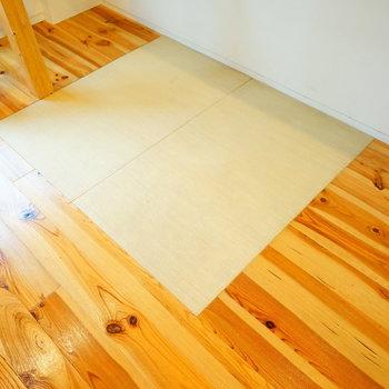 光沢感のある無垢と畳スペースが◎※写真は1階の同間取り別部屋です。