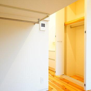 ロフト下は収納になります!※写真は1階の同間取り別部屋です。