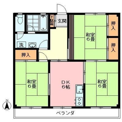 武蔵関アパート2号棟 の間取り