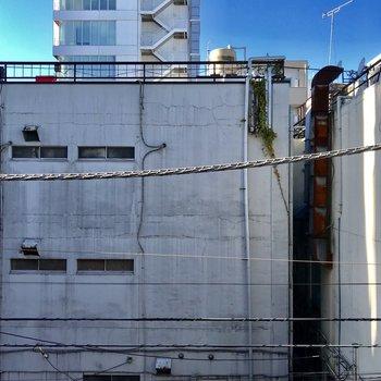 ベランダからの眺望。となりの建物まで距離があるので、圧迫感がないのがグッド!