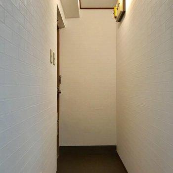 玄関。コンパクトだけど、靴がそのまま置けます
