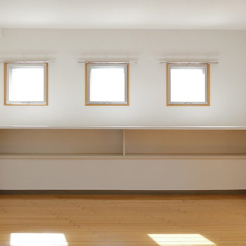 3つ子の小窓。明るい。