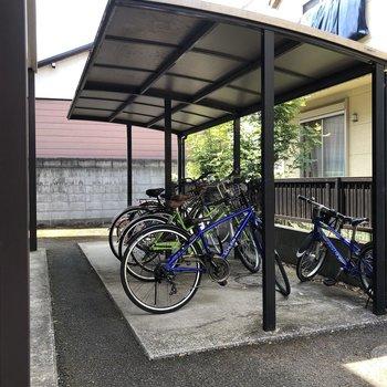自転車でお出かけも可能。