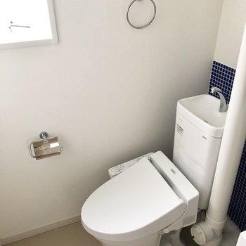 トイレはウォッシュレットつき。※写真は通電前のものです