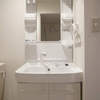 しっかり独立洗面台。※写真は2階の反転間取り別部屋です。