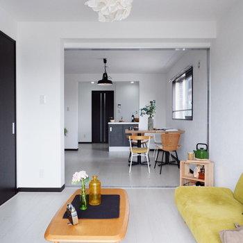 どの部屋からもお部屋全体が見渡せます。※家具はサンプルです