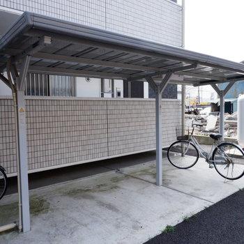 駐輪場もあって便利です。
