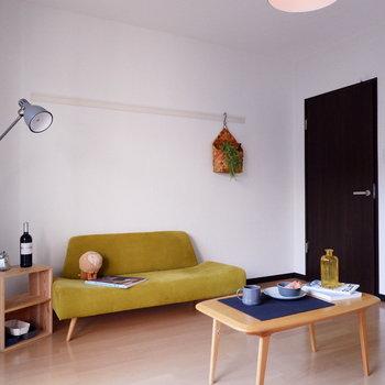 セミダブルなども置けそうです。※家具はサンプルです