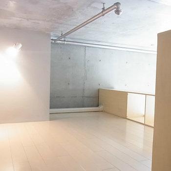 ロフト部分も広いです。※写真は4階の同間取り別部屋のものです