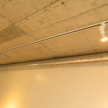 ライティングレールと配管のコラボ