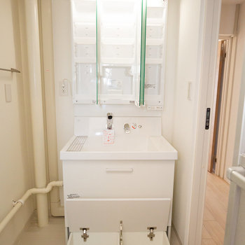 洗面台がリニューアル!