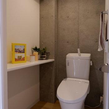 圧迫感のないトイレ。