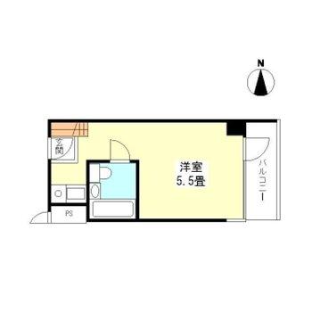 【注意!】※別部屋の間取です:間取りはシンプル1R