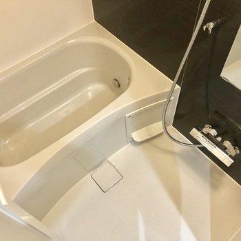 お風呂もまずまずの広さ。
