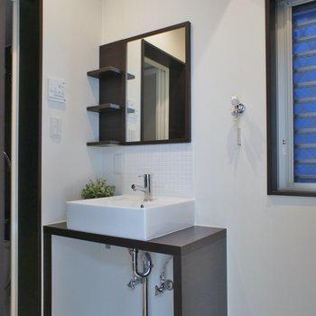 スタイリッシュな洗面台※写真は前回募集時のもの
