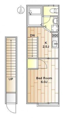 小さなお部屋と大きな工夫 の間取り