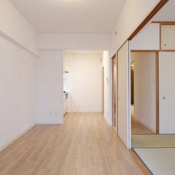 【DK】和室との扉を開けて更に開放的に。