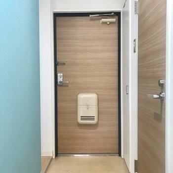 玄関の扉までリノベーション済み!