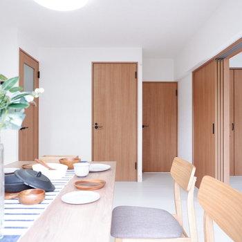 【DK】引き戸もドアも、ウッディで可愛い。※写真は前回募集時のものです