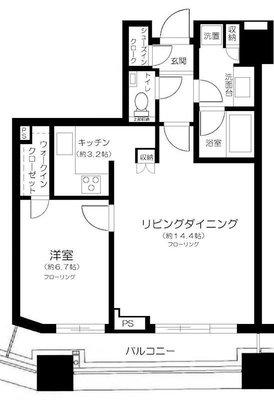 コンシェリア西新宿 TOWER'S WEST の間取り