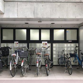 自転車はここにとめてね。 ※写真は前回募集時のものです