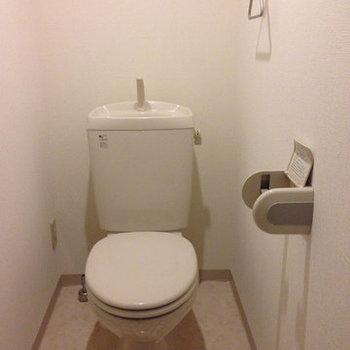 トイレもきれいです※写真は別部屋です。