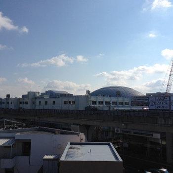 名古屋ドームも見えちゃう!※写真は別部屋です。