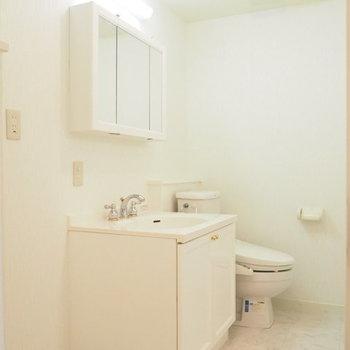 毎日鏡の前に立つのがうきうきしてしまうような真っ白な空間。※写真は1階の反転間取り別部屋