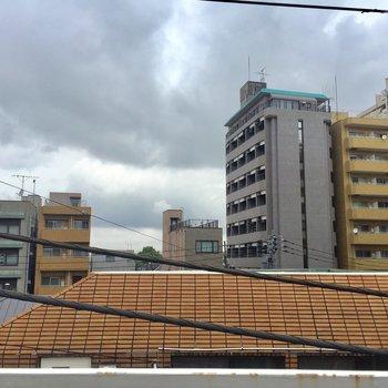眺望。住宅が多く広がっています。