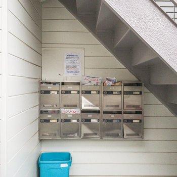 2階に上がる階段の下には集合ポストがあります。