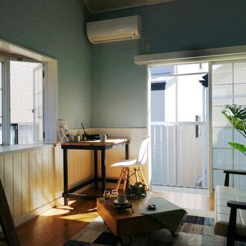 暖かな日差しも特徴的。※写真の家具はサンプルです