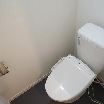 新品トイレはウォシュレットもついてます※反転間取りのお部屋の写真