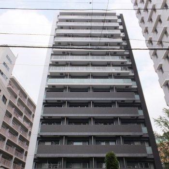 14階建の立派なマンションです。※写真は4階の同間取り別部屋のものです