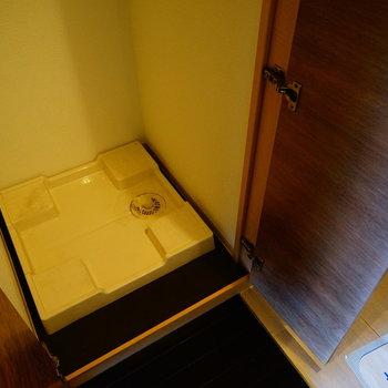 洗濯機は隠せます♪※写真は5階の同間取り別部屋のものです。