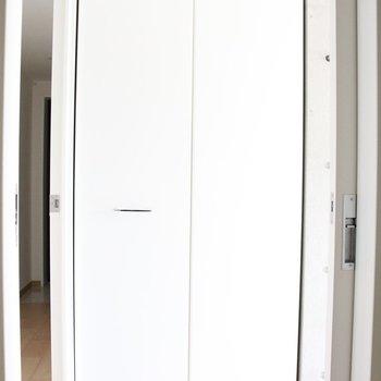 収納は1ヶ所。※写真は4階の同間取り別部屋のものです。