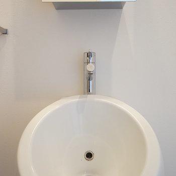男子トイレ。ではないです。※写真は5階の同間取り別部屋のものです。