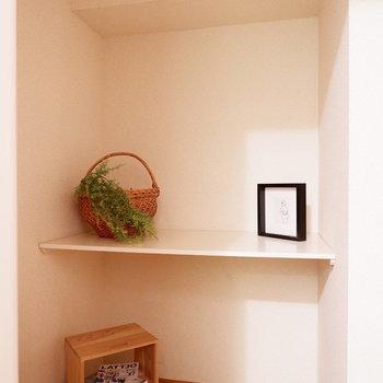 納戸もあるので、お部屋全体の収納力はなかなかです。※家具はサンプルです