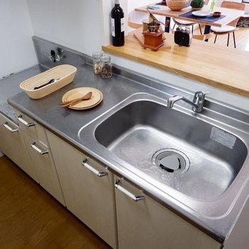 【LDK】調理もしやすそうだ。※家具はサンプルです